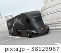 トラック 高速道路 自動運転のイラスト 38126967