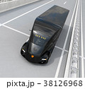 トラック 高速道路 自動運転のイラスト 38126968