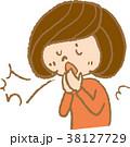 くしゃみ 花粉症 風邪のイラスト 38127729