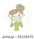 女性 花粉症 マスクのイラスト 38128470