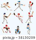 スポーツ ベースボール 野球のイラスト 38130209