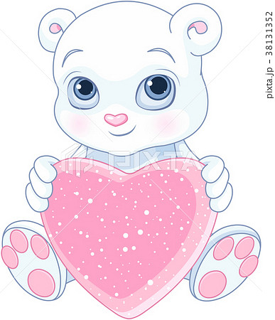 Teddy Bear Holds Heart 38131352