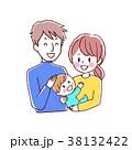 赤ちゃん ベクター 笑顔のイラスト 38132422