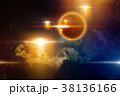 UFO, extraterrestrial life form in space 38136166