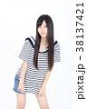 若い女性 ファッション ポートレート 38137421