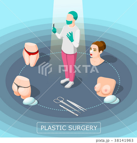 Plastic Surgery Isometric Design Concept 38141963