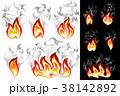 火 炎 煙のイラスト 38142892