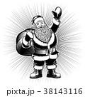 サンタ サンタクロース クラウスのイラスト 38143116