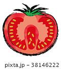 野菜 食材 トマトのイラスト 38146222