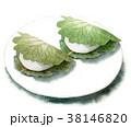 食べ物 水彩 柏餅のイラスト 38146820