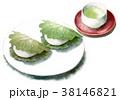 食べ物 水彩 柏餅のイラスト 38146821