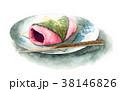 食べ物 和菓子 水彩のイラスト 38146826