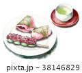 食べ物 和菓子 水彩のイラスト 38146829