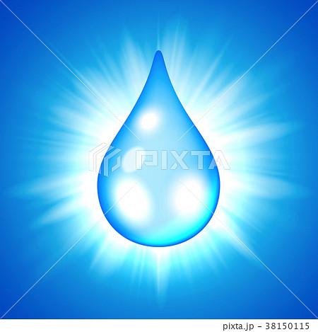 Blue drop on flash star background 38150115