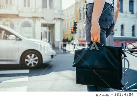 urban busy lifestyle city street crosswalk worker 38154284