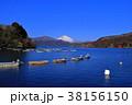 元箱根港からの青空快晴の芦ノ湖の富士山 2018/02/09 38156150
