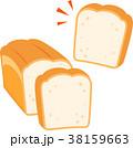 パン 食パン 主食のイラスト 38159663