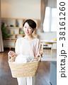 洗濯 洗濯物 女性の写真 38161260