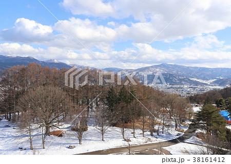 冬のアルプス公園 38161412