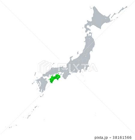 四国地図 日本列島 38161566