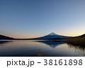 富士山 河口湖 冬の写真 38161898