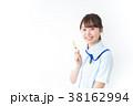 女性 看護師 注射器の写真 38162994