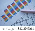 グラフ ビジネスイメージ 資料の写真 38164301