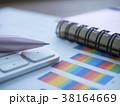 グラフ 資料 ビジネスイメージの写真 38164669