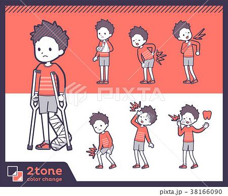 2tone type Red clothing short hair boy_set 08 38166090