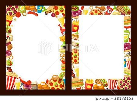 vector fast food menu templatesのイラスト素材 38173153 pixta