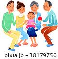 三世代 家族 ファミリーのイラスト 38179750