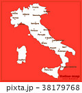 Italy map with italian big cities. Vector. 38179768