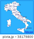 Map of Italy with blue background. Italy map with 38179800