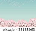 桜 木 背景のイラスト 38183963
