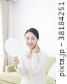 女性 手鏡 美容の写真 38184251