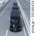 トラック 高速道路 自動運転のイラスト 38186454
