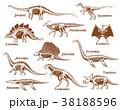 恐竜 組み合わせ デコラティブのイラスト 38188596