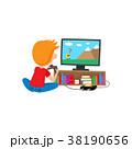少年 ゲーム コンソールのイラスト 38190656