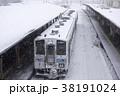列車 雪 積雪の写真 38191024