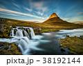 アイスランド 夕日 夕焼の写真 38192144