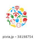 円 丸 丸いのイラスト 38198754