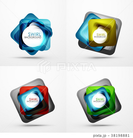 Collection of abstract square shape backgrounds 38198881