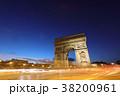 エトワール凱旋門 パリ シャンゼリゼ通りの写真 38200961