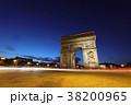 エトワール凱旋門 パリ シャンゼリゼ通りの写真 38200965