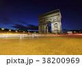 エトワール凱旋門 パリ シャンゼリゼ通りの写真 38200969