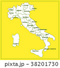 Map of Italy with red background. Italy map with 38201730