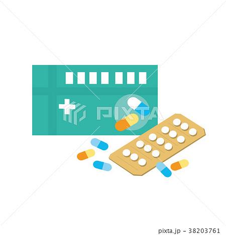 市販薬 イラストのイラスト素材 [38203761] - PIXTA