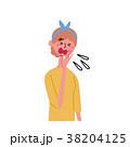 くしゃみをする女性 イラスト 38204125
