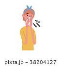 鼻をかむ 女性 イラスト 38204127