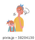 ベクター 親子 子育てのイラスト 38204130